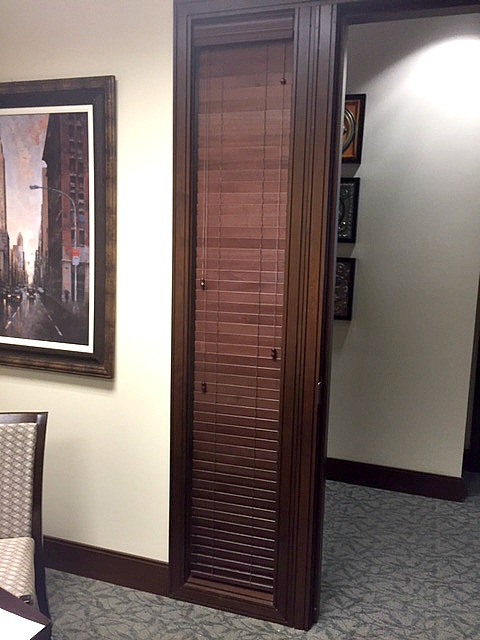 Wood Blinds For Office Privacy Latreia Wood And Faux