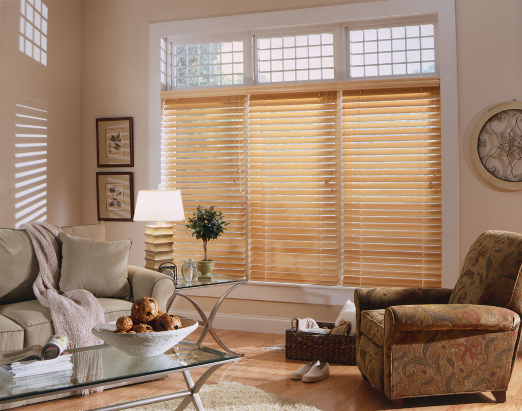 Faux Wood Blinds And Transom Windows
